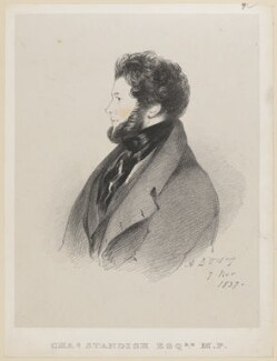 Charles Standish, by Richard James Lane, after  Alfred, Count D'Orsay - NPG D46221