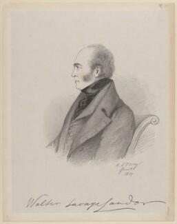 Walter Savage Landor, by Richard James Lane, after  Alfred, Count D'Orsay - NPG D46230