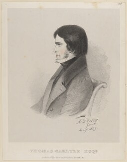 Thomas Carlyle, by Richard James Lane, after  Alfred, Count D'Orsay - NPG D46232