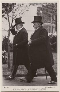 King Edward VII; Clément Armand Fallières, published by Rotary Photographic Co Ltd - NPG x196494