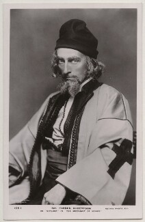 Sir Johnston Forbes-Robertson as Shylock in 'The Merchant of Venice', by Lizzie Caswall Smith, published by  Rotary Photographic Co Ltd, circa 1906 - NPG  - © reserved; collection National Portrait Gallery, London