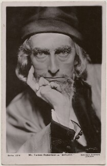 Sir Johnston Forbes-Robertson as Shylock in 'The Merchant of Venice', by Lizzie Caswall Smith, published by  Davidson Brothers, circa 1906 - NPG  - © National Portrait Gallery, London