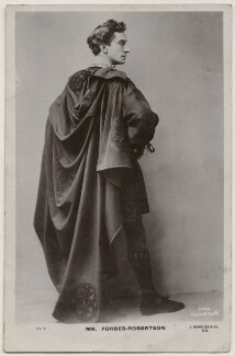 Sir Johnston Forbes-Robertson as Hamlet in 'Hamlet', by Lizzie Caswall Smith, published by  J. Beagles & Co - NPG x196357