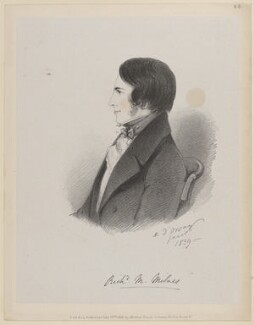 Richard Monckton Milnes, 1st Baron Houghton, by Richard James Lane, published by  John Mitchell, after  Alfred, Count D'Orsay - NPG D46235