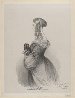Hon. Isabella Elizabeth Annabella Anson (née Forester), by Richard James Lane, published by  John Mitchell, after  Alfred, Count D'Orsay - NPG D46242