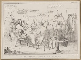 Coach-Dinner - Castle Inn - Windsor, by John ('HB') Doyle, printed by  Alfred Ducôte, published by  Thomas McLean - NPG D46344