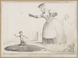 Gulliver and his Nurse, by John ('HB') Doyle, printed by  Alfred Ducôte, published by  Thomas McLean - NPG D46349