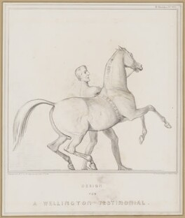 Design for a Wellington Testimonial (Arthur Wellesley, 1st Duke of Wellington), by John ('HB') Doyle, printed by  Alfred Ducôte, published by  Thomas McLean - NPG D46351