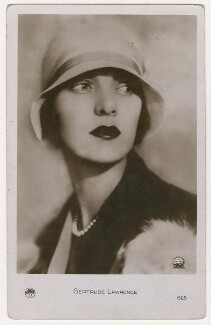 Gertrude Lawrence, by Unknown photographer - NPG x198217