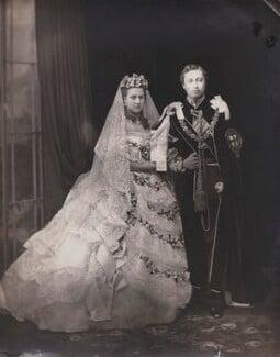 Queen Alexandra; King Edward VII, by John Jabez Edwin Mayall - NPG x199338