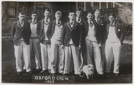 Oxford rowing crew, 1928, by Mrs Albert Broom (Christina Livingston) - NPG x198229