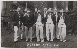 Oxford rowing crew, 1929, by Mrs Albert Broom (Christina Livingston) - NPG x198231