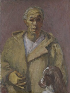Henryk Gotlib, Self-Portrait in a Duffle Coat, by Henryk Gotlib - NPG 7015