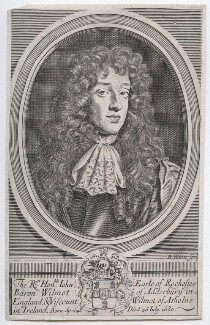 John Wilmot, 2nd Earl of Rochester, by Robert White, after  Sir Peter Lely - NPG D46328