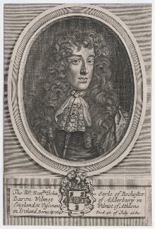 John Wilmot, 2nd Earl of Rochester, after Robert White, after  Sir Peter Lely - NPG D46330