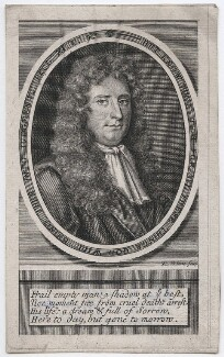 Laurence Hyde, 1st Earl of Rochester, by Robert White, after  Sir Godfrey Kneller, Bt - NPG D46332