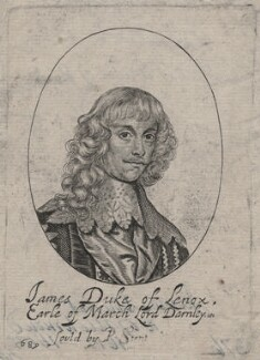 James Stuart, 1st Duke of Richmond and 4th Duke of Lennox, probably by William Faithorne, published by  Peter Stent, after  Sir Anthony van Dyck - NPG D46382