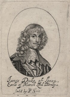 James Stuart, 1st Duke of Richmond and 4th Duke of Lennox, probably by William Faithorne, published by  Peter Stent, after  Sir Anthony van Dyck - NPG D46383