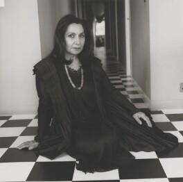 Imtiaz Dharker, by Lucinda Douglas-Menzies - NPG x199352