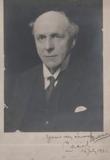 Edgar Algernon Robert Gascoyne-Cecil, 1st Viscount Cecil of Chelwood, by Bassano Ltd - NPG x199361