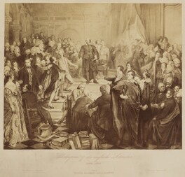 Shakespeare und die englische Literatur 1564-1864 (includes William Shakespeare and 87 other sitters), published by Friedrich Bruckmann, after  Wilhelm Lindenschmit the Younger - NPG D46392