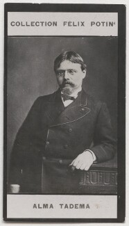 Sir Lawrence Alma-Tadema, by London Stereoscopic & Photographic Company, published by  Félix Potin - NPG x199370