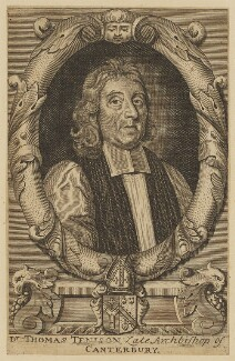 Thomas Tenison, after Robert White - NPG D46398