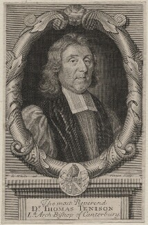 Thomas Tenison, by Robert White - NPG D46396