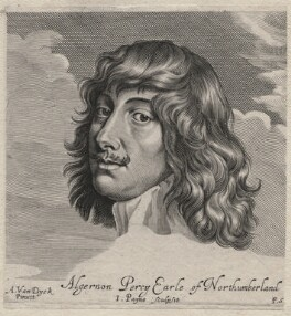 Algernon Percy, 10th Earl of Northumberland, by John Payne, published by  Peter Stent, after  Sir Anthony van Dyck - NPG D46403