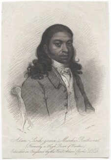 Adam Sree Goona Munhi Rathana Vadheygay, by Robert Hicks, published by  Henry Fisher, after  Alexander Mosses - NPG D46404