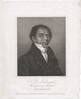 Deen Mahomed (né Mahomet), by William Maddocks, published by  J. Cordwell - NPG D46405