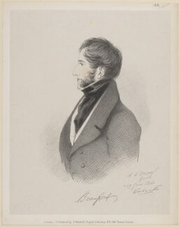Henry Somerset, 7th Duke of Beaufort, by Richard James Lane, published by  John Mitchell, after  Alfred, Count D'Orsay - NPG D46245