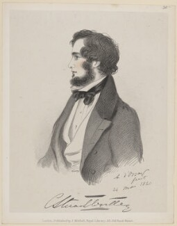 Hon. Charles Stuart-Wortley-Mackenzie, by Richard James Lane, published by  John Mitchell, after  Alfred, Count D'Orsay - NPG D46248