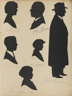 Archibald Layford; Elsie Jones; Suzanne Viola; Godfrey A. Cowry; John Gifford; Ralph Burnham, by Hubert Leslie - NPG D46414