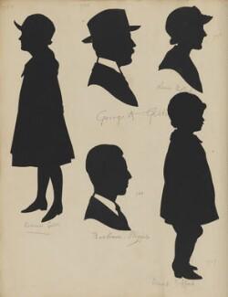 Doreen Gibbs; Bertram Phipps; George A. Gibbs; Lena Gifford; David Gifford, by Hubert Leslie - NPG D46415