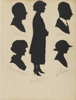 Sheila Charlton (née Ross); Theophilus Charlton; Dorothy Albert; W. E. Hobson and an unknown man, by Hubert Leslie - NPG D46418
