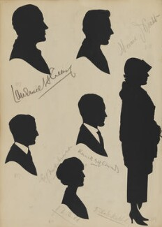 Lawrence H. Creasy; E.Y. Mitchinson; J.D. Hudd; Kenneth B. H. Edward; Horace J. Grant and an unknown woman, by Hubert Leslie - NPG D46429