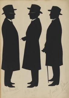 Nat. Mindel; H. Mindel; Lionel Rubens, by Hubert Leslie - NPG D46433