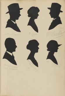 ?; G. Phelps; ?; Madeleine Jannaway; George Bradford; M. Bately, by Hubert Leslie - NPG D46436
