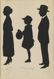 ?; Fanny Wragg; S.J.B. Popham, by Hubert Leslie - NPG D46440