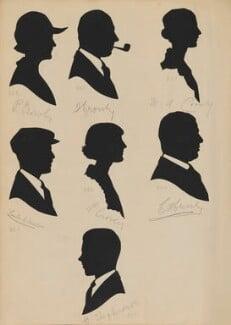 Leslie C. Williams?; P. Crowly; F. Crowly; H. Shepherdson; A. Crowly?; C.H. Crowly; M. A. Crowly?, by Hubert Leslie - NPG D46441