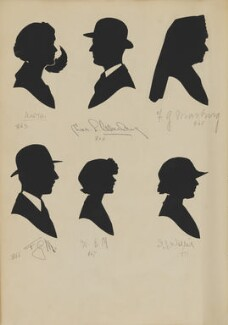 Charles L. Marburg; F.G. Marburg and others, by Hubert Leslie - NPG D46443