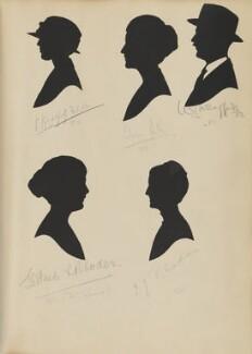 Gertrude L. Rhodes; Mrs Wragg; Lilian Hull; I.J. Rhodes; W.J. Wragg, by Hubert Leslie - NPG D46444
