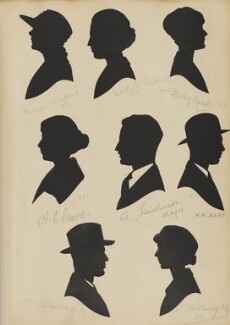Kathryn Lampard; A.E. Crabb; S. Willoughby; Dorothy G. Parkes; A. Huskisson; B. Willoughby; Dorothy Spink, by Hubert Leslie - NPG D46446