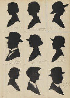 C.R. Wise; E. Maton; S. Soper; R.B. Atkinson; A.M. Paterson; Dorothy Thomas; W? H. Cosens; K. Carter; E.F. Cornish, by Hubert Leslie - NPG D46452