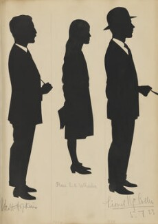 C. Scott-Hopkins; Rose E. C. Wheeler; Lionel Henry Collier?, by Hubert Leslie - NPG D46574