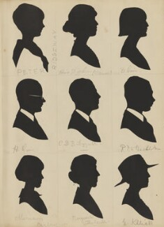 Peter Ridgeway; H. Quin; Miriam Barlow; C.D.B. Leggall; Marguerite Thirlaude?; Rosie Dickens; E. Killick; R.P.W. Shackleton; D. Quin, by Hubert Leslie - NPG D46596