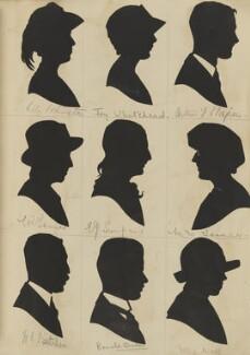 Visitors to St Luke's Church Bazaar, Eltham Park (Lily Johnston; Joy Whitehead; Arthur J. S. Napier; L.R. Tanner; Eva Joan Sumpner; Mrs Tanner; W. E. Butcher; Ronald Burton; Nellie Wade), by Hubert Leslie - NPG D46611