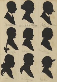 W. Howe; K. Baily; N.W. Fellowes; Dulcie U. B. A. Fellowes; B. Folkard?; Norah Waddell; John Davey; Kathleen Taplay; Mrs Burr), by Hubert Leslie - NPG D46615
