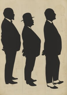 Staff of Messrs Vickers, Sheffield (Sir George Thomas Buckham; Sam Robinson; Colonel E.A.P. Hobday), by Hubert Leslie - NPG D46620